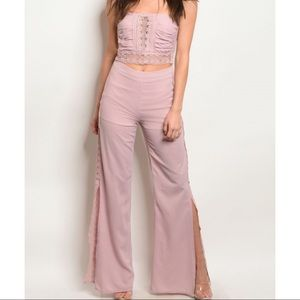 ⭐️HP⭐️💃🏻Blush Bandeau Top Pants Set